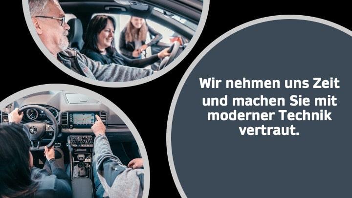 Autoverkäufer, Kunden, Navigationsgerät, Erklärung, Kundenberater
